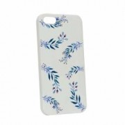 Husa Apple iPhone SE 5S 5 Silicon Blue Flower W116
