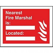 Unbranded Fire Sign Nearest Marshall Plastic 20 x 30 cm