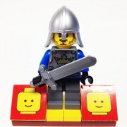 "Minifigure Packs: Lego Castle Bundle ""(1) Kings Knight"" ""(1) Figure Display Base"" ""(1) Figure Accessory"""