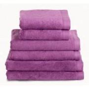 Neiper Juego de toallas algodón peinado 580 gr./m2 color framboesa