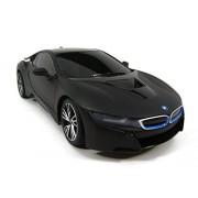 Fatherland Shop BMW I8 Concept RC Radio Remote Control Sport Car Working Lights 1 18 Scale Black Matte