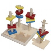 Skillofun Wooden Twist Me in and Out (Group Activity), Multi Color