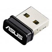 Asus WiFi USB-dongel Asus USB-N10 Nano USB 2.0 150 Mbit/s 2.4 GHz