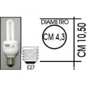 Lampada risparmio energetico 9W E27 2 tubi Kapta