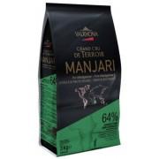 Ciocolata Neagra Premium MANJARI 64 % Valrhona, 3Kg