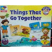E My Toy Shop Things That Go Together of Self Correcting Puzzle- 54 Pieces