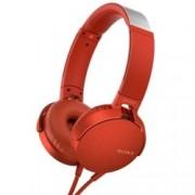 Слушалки Sony MDR-550AP, микрофон, червени