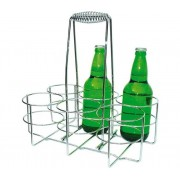 Flessenrek | Metaal Verchroomd | 32x21,5x(H)32,5cm