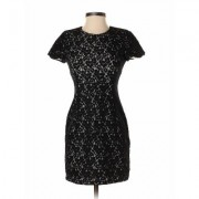 French Connection Cocktail Dress - Sheath: Black Solid Dresses - Used - Size 2