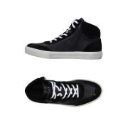 Hogan Rebel Black Leather Sneakers - Black - Size: 8.5