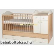 Kinder Möbel BOGI 60x120 cm kombiágy bükk-bézs