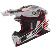 LS2 MX456 COMPASS WHITE RED