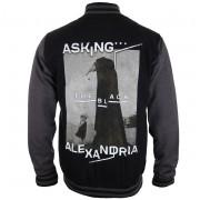 mikina pánská (baseball) Asking Alexandria - The Black Original Art - PLASTIC HEAD - PH9857BBSJ