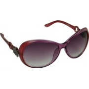 Rockford Over-sized Sunglasses(Brown)