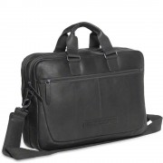 Chesterfield Laptoptas Chesterfield Leren Laptoptas 15 inch Seth Zwart