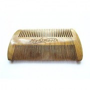 Myhsmooth GS-SM-NF Handmade Natural Green Sandalwood No Static Comb-pocket Comb (Beard) with Aromatic Scent for Long and