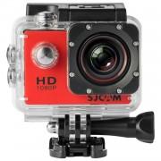 CAMARA DE ACCION SJCAM SJ4000 RED - LCD 1.5'/3.8CM - 12MPX - 1080P/720P/WVGA - MODO VEHICULO - BATERIA 900mAh - MICROSD HASTA 32GB - SUMERGIBLE 30M