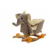 Balansoar 2 in 1 Muzical Roti Elefantul Gri