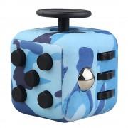 Bleu Mini Fidget Cube Toy Bureau Jouets Finger Squeeze Stress Fun Releveur Anti-Stress
