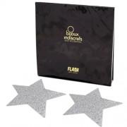 Tapa Mamilos Flash Glitter Star Bijoux Indiscrets Prateados