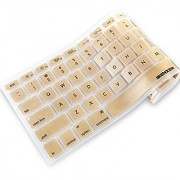 iBenzer - Macaron Series Keyboard Cover Silicone Rubber Skin for Macbook Pro 13 15 17 (with or w/out Retina Display) Macbook Air 13 and iMac Wireless Keyboard - Gold MKC01GD