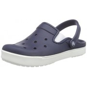 Crocs Unisex CitiLane Clog Navy and White Rubber Clogs and Mules - M8W10