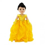 14Inch Doll Clothes/Clothing | Gorgeous Princess Belle-Inspired Costume Ball Gown Outfit with Beaded Accents and Matching Gloves | Fits American Girl Wellie Wisher Dolls