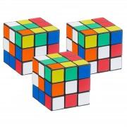 Merkloos Pakket van 3x stuks voordelige kubus puzzels 6 cm - Action products