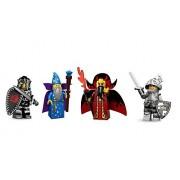 Lego Bundle Minifigures Castle Series: Wizard, Evil Wizard, Evil Knight, and Good Knight Custom Bundle