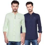 Yo Republic Men's 100% Cotton Full Sleeve Regular Fit Casual Combo Shirts