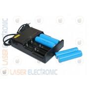 Batterie a Litio Ricaricabili 18650 3.7V 5.0AH 5000mA con Caricabatteria Multifunzione