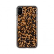 FLAVR Coque iPhone X XS FLAVR iPlate chips - Or rose
