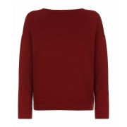 Jaeger Cotton Padded Jacquard Sweatshirt