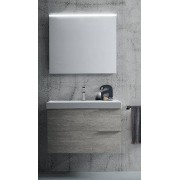 RAB ARREDOBAGNO Armoire de toilette thaïlandaise suspendue avec miroir et lampe - finition: Chên