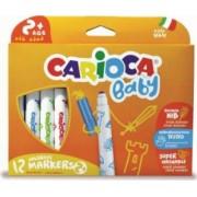 Carioca super lavabila 12 culori-cutie CARIOCA Baby 2+