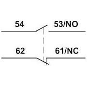 Homlokoldali segédérintkező TR1K segédkontaktorokhoz - 230V, 50Hz, 2A, 1xNC+1xNO TR5KN11 - Tracon