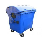 Plastový kontejner na odpad1100 L- modrý