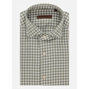 Corneliani Regular-fit Gingham flannel overhemd Lichtgroen