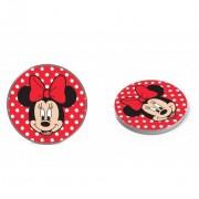 Disney vezeték nélküli töltő - Minnie 001 micro USB adatkábel 1m 9V/1.1A 5V/1A piros (DCHWMIN002)