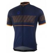 lazább kerékpáros mez Rogelli RITMO rövid ujj, blue-narancs 001.260.