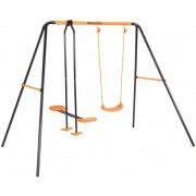 Leagan dublu pentru copii cu balansoar 08605 MVS model Venus pentru exterior si cadru metal