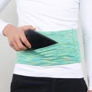 Persoonlijke grote capaciteit stretch Tablet zakken reizen anti-diefstal zak telefoon zak L sectie (groen)