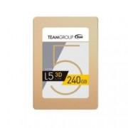 """SSD 240GB TeamGroup L5 LITE 3D, SATA 6Gb/s, 2.5""""(6.35 cm), скорост на четене 470MB/s, скорост на запис 400MB/s"""