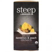 Steep by Bigelow Bigelow 17715 Steep Tea, Dandelion & Peach, 1.18 Oz Tea Bag, 20/Box