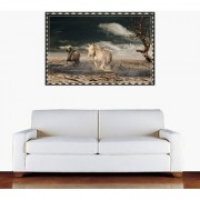 Wall Sticker Running Horses Design (Cover Area :- 36 X 24 inch)