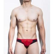 Mategear Eoh Jae Reduced Sides Mesh Extremely Sexy Mini Bulge Squarecut Bikini Underwear Black/Red 1111203