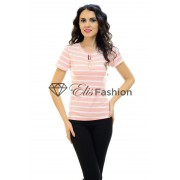 Tricou Hanging Lines Pink