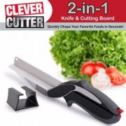 Xectes Multi Veg Cut Laser Blade Vegetable Fruits Cutter Chopper Slicer CLEVER CUTTER (Multicolor) Set Of 1