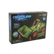 Puzzle cuburi cu LED - Buldozer - 192 piese