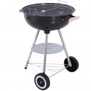 Outsunny - Barbecue circular com tampa Outsunny
